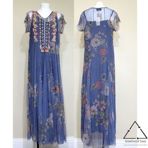 Biya Johnny Was Lapeit Embroidered Maxi Dress